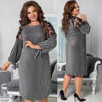 Стильное платье    (размеры 48-62) 0255-40, фото 1