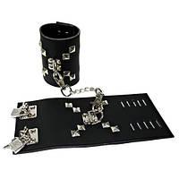 Шкіряні наручники на замочку HC-01