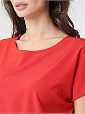 Жіноча блуза без рукавів вільного крою, фото 3