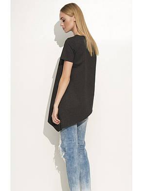 Блузка черная из креп-шифона, фото 2