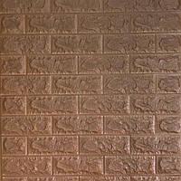 Декоративні 3D-панелі для стін під цеглу Коричневий 700х770х7мм