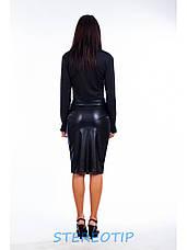 Юбка женская Футляр из эко кожи, фото 3