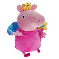 Фея Пеппа с короной и волшебной палочкой, мягкая игрушка 45 см Peppa (24210)