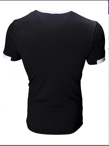 Футболка черная Slim Fit, фото 2