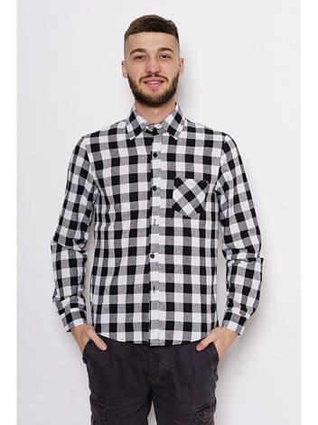 Байковая рубашка в черно-белую клетку, фото 2