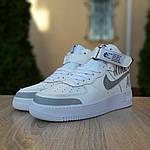 Жіночі кросівки Nike Air Force 1' 07 (біло-сірі) 2926, фото 5