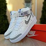 Женские кроссовки Nike Air Force 1' 07 (бело-серые) 2926, фото 2