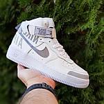 Женские кроссовки Nike Air Force 1' 07 (бело-серые) 2926, фото 7
