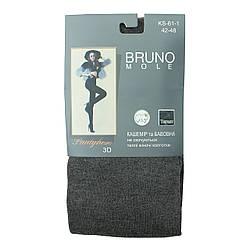Теплі жіночі колготки сірі колготи преміум якості BRUNO Mole 3D Pantyhose