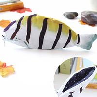 Пенал 3d рыбка, с изображением рыбки полосками «Fish 3d» (жёлтый ), фото 1