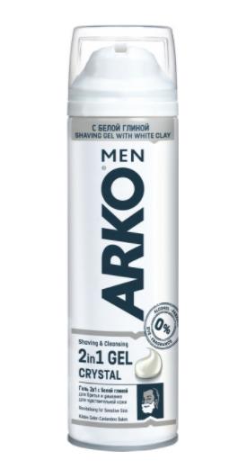 """Гель для бритья Arko """"Crystal"""" 200мл"""