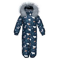 Комбинезон зимний детский Apollo Синяя Арктика с Опушкой / Детские зимние комбинезоны, фото 1