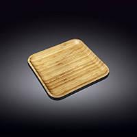 771024- WL Тарілка  Wilmax Bamboo дерево квадратна 28х28см