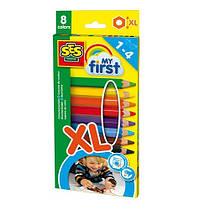 Восковые карандаши Радуга (8 цветов), набор серии My first, SES (14416S)