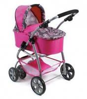 Коляска для кукол Bayer Chic 2 в 1 Bellina, цвет Hot Pink Pearls 87