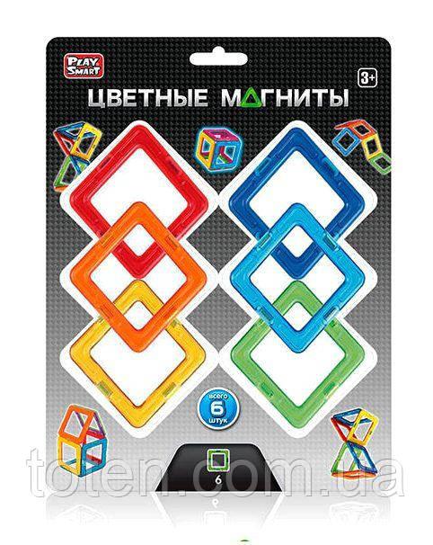 Конструктор магнитный Цветные треугольники Play Smart 2431