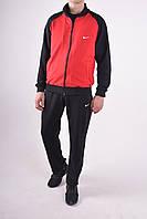 Размеры: 48-54. Мужской спортивный костюм / Трикотаж двунитка - черный / красный