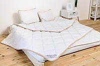 Комплект постельного белья из шерсти мериносов евро белый классический