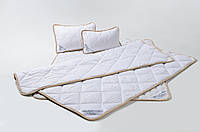 Детский комплект постельного белья из шерсти мериносов белый классический