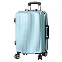 Оригинальный на колесиках пластиковый чемодан, мельнький.