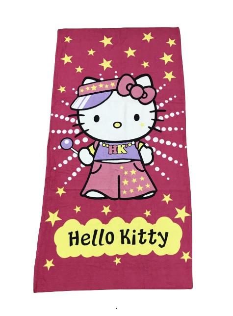 Полотенце пляжное Vende велюр Hello Kitty 75*150