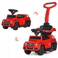 Детский электромобиль Mercedes (мотор 15w, аккум, MP3) каталка-толокар Bambi M 3853-3 Красный