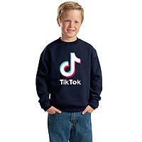 Детский свитшот TIK TOK. Лайки. ТИК ТОК большое лого. Кофта для мальчиков и девочек ТИК ТОК