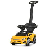 Детская каталка толокар электромобиль для мальчика Bambi «Tesla» M 4318L-6 Желтый