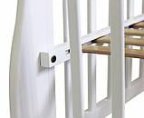 Кроватка для новорожденных с маятниковым механизмом Юлия с ящиком Белая, фото 4