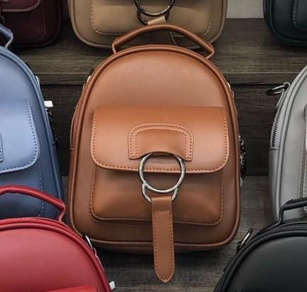 Сумочка рюкзак женская, коричневая