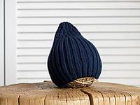 """Детская вязаная шапка """"Alen"""", синяя, фото 1"""