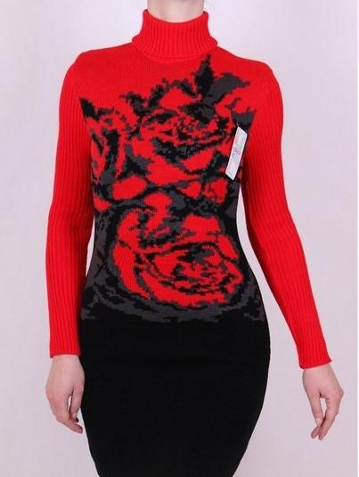 Платье машинная вязка - Розы