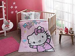 Постельное белье для новорожденных в детскую кроватку Tac Hello Kitty Baby младенцам