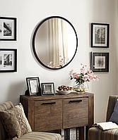Зеркало круглое 600 мм венге, фото 1