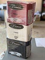 Салфетка чёрная столовая 33см 2-слойная 200 шт. Primier, фото 2