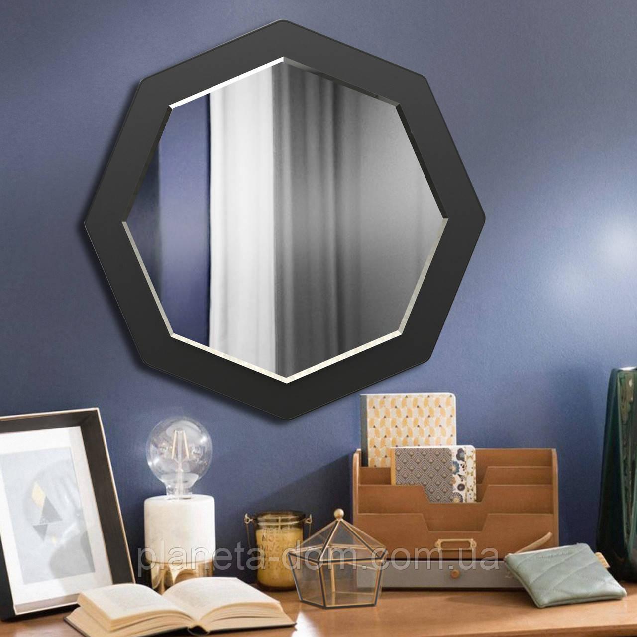 Восьмиугольное зеркало с фацетом ( круглое ) 600 мм