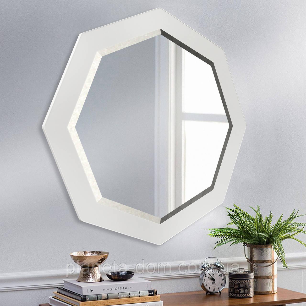 Восьмиугольное зеркало с фацетом ( круглое ) 800 мм