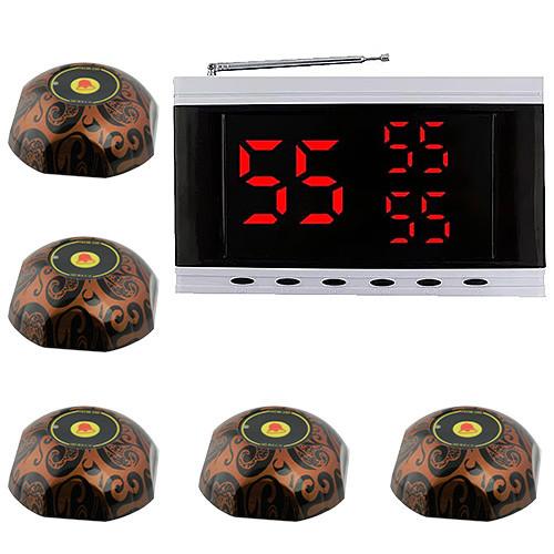 Система виклику офіціанта RECS №144   кнопки виклику офіціанта 5 шт + приймач викликів