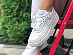 Жіночі кросівки Nike Air Force (білі) 9870, фото 6