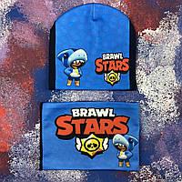 Детская шапка Brawl Stars и снуд Бравл Старс, фото 1