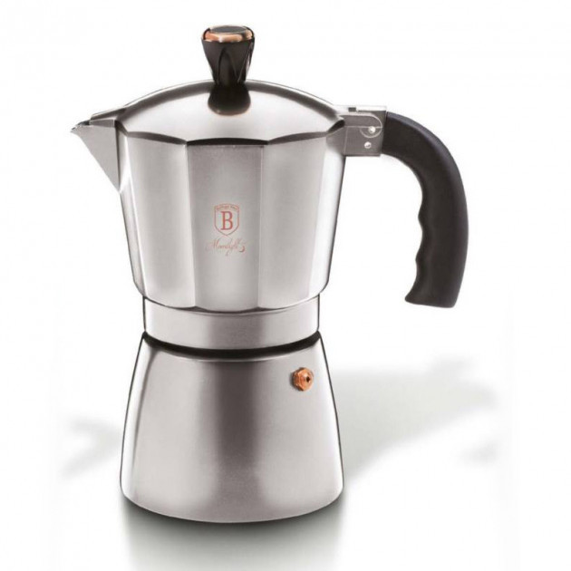 Гейзерная кофеварка 3 чашки Moonlight Edition Berlinger Haus BH 6389