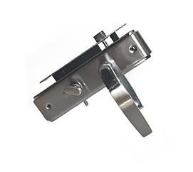 Врезной замок с ручками для деревянных дверей Kozak A-10 SN/CP
