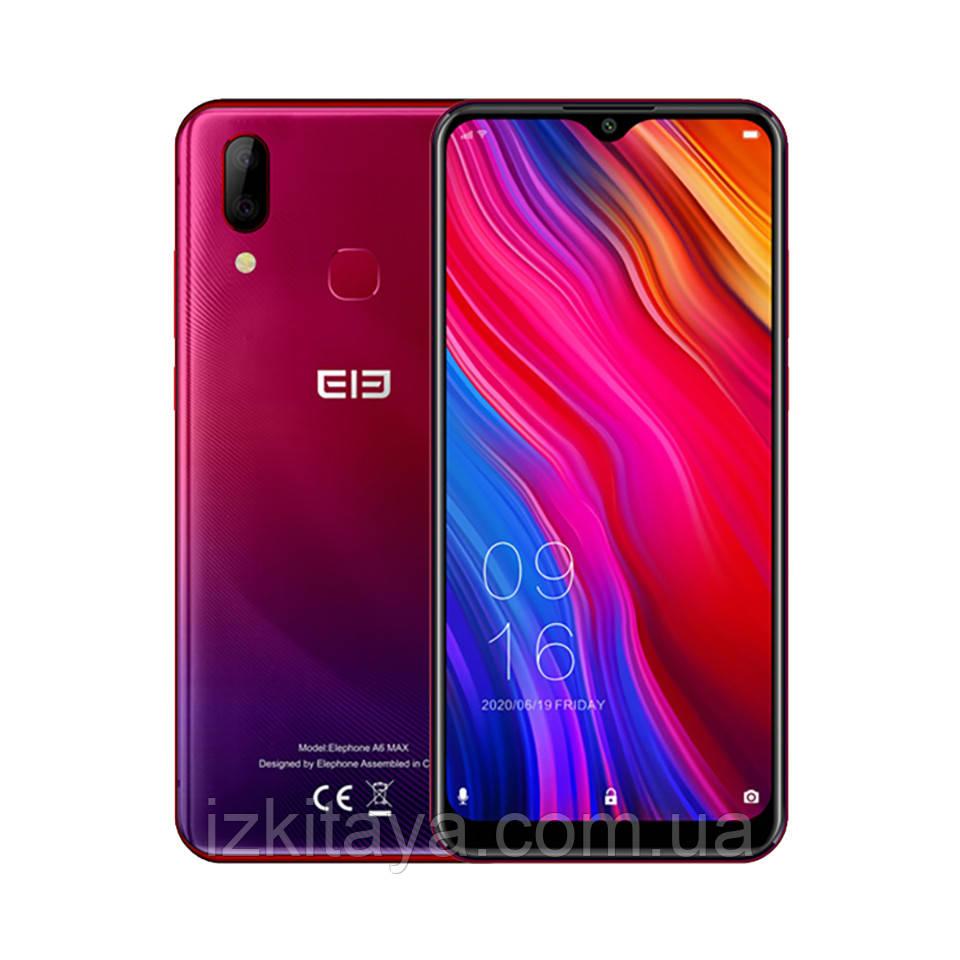 """Смартфон Elephone A6 Max red огромный экран 6,53"""" батарея 3950 mAh 4/64 Гб 8 ядер"""