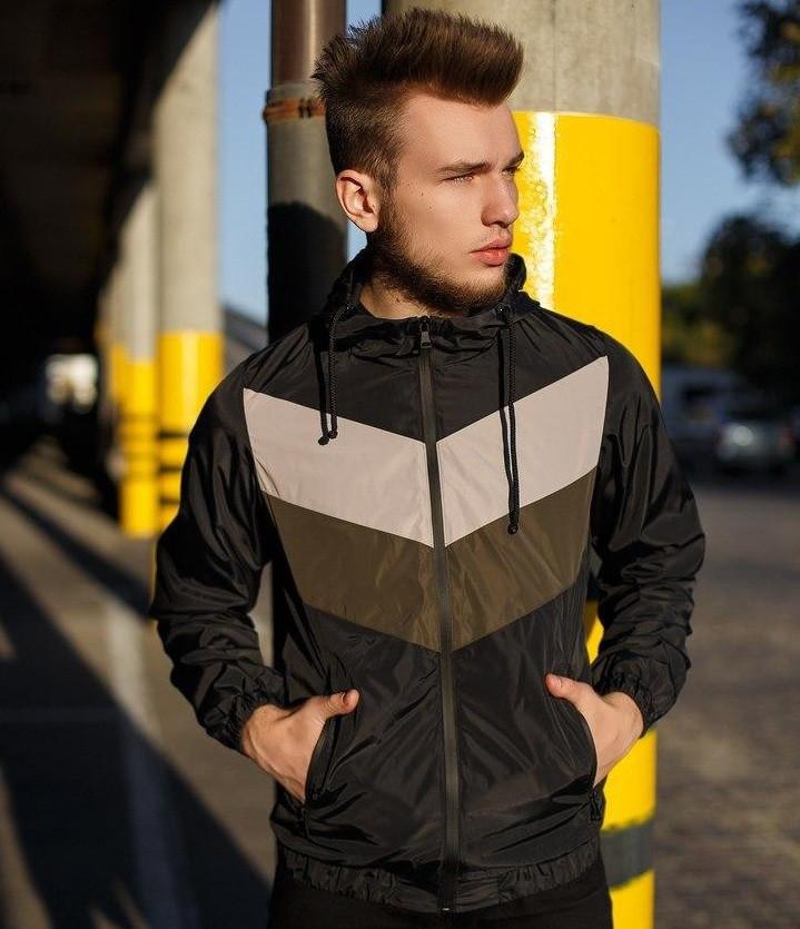 Куртка мужская ветровка с капюшоном весна-осень .Vidlik Турция. Живое фото. Чоловіча куртка