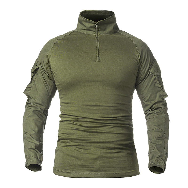 Тактическая рубашка Lesko A655 Green 2XL (38 р.) кофта с длинным рукавом камуфляжная армейская для военных