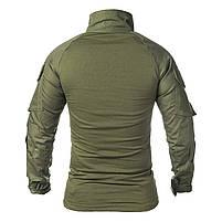 Тактическая рубашка Lesko A655 Green 2XL (38 р.) кофта с длинным рукавом камуфляжная армейская для военных, фото 2