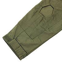 Тактическая рубашка Lesko A655 Green 2XL (38 р.) кофта с длинным рукавом камуфляжная армейская для военных, фото 3