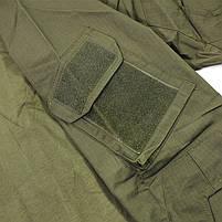 Тактическая рубашка Lesko A655 Green 2XL (38 р.) кофта с длинным рукавом камуфляжная армейская для военных, фото 4