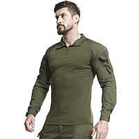 Тактическая рубашка Lesko A655 Green 2XL (38 р.) кофта с длинным рукавом камуфляжная армейская для военных, фото 5
