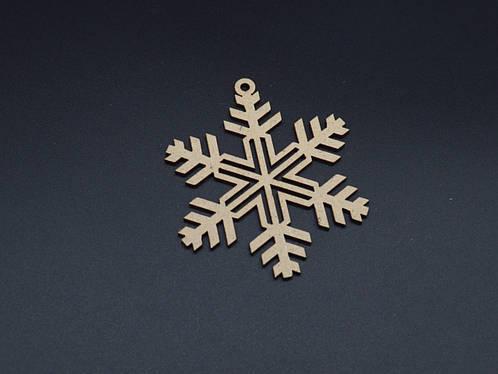 Деревянные снежинки под декупаж. 9см